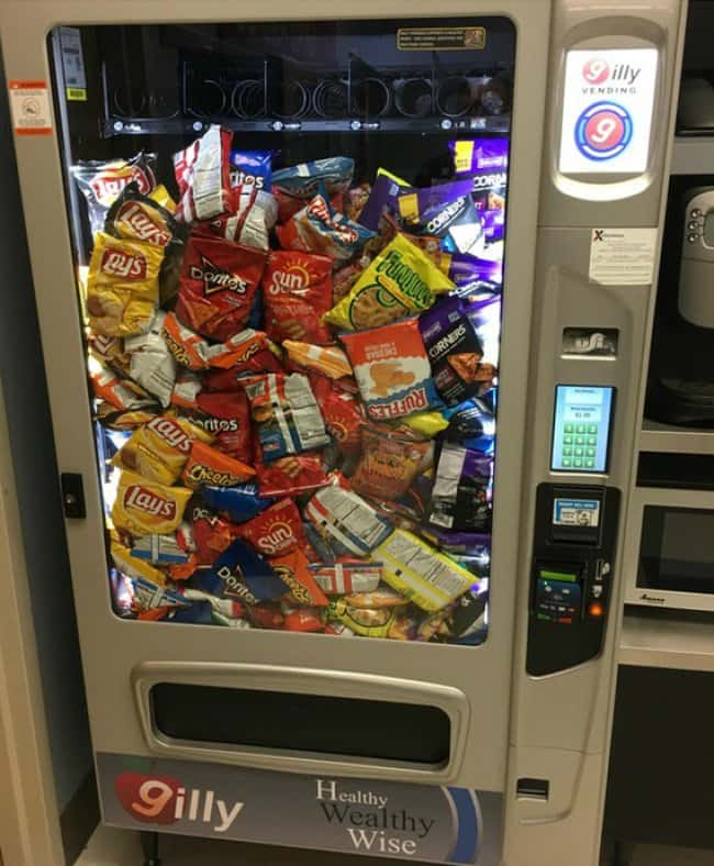 Times Lucky People Hit The Food Jackpot vending machine win