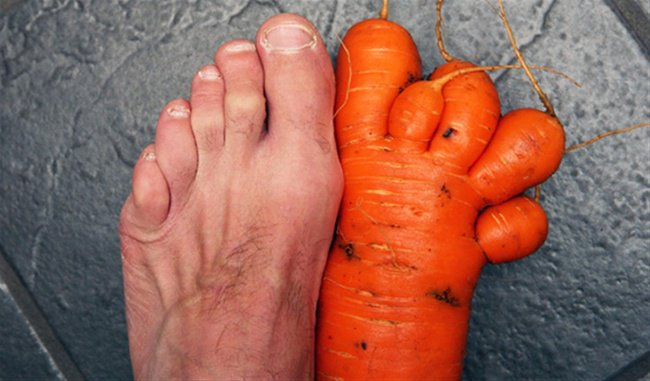 Times Something Strange Happened To Our Food carrot foot