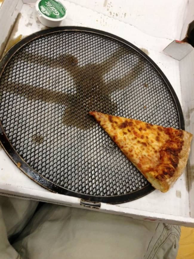 Times Something Strange Happened To Our Food pizza with baking pan