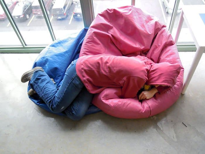 Times Things Matched Their Surroundings clothes and bean bags