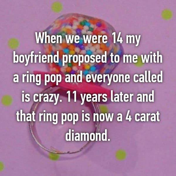 Unique Marriage Proposals ring pop