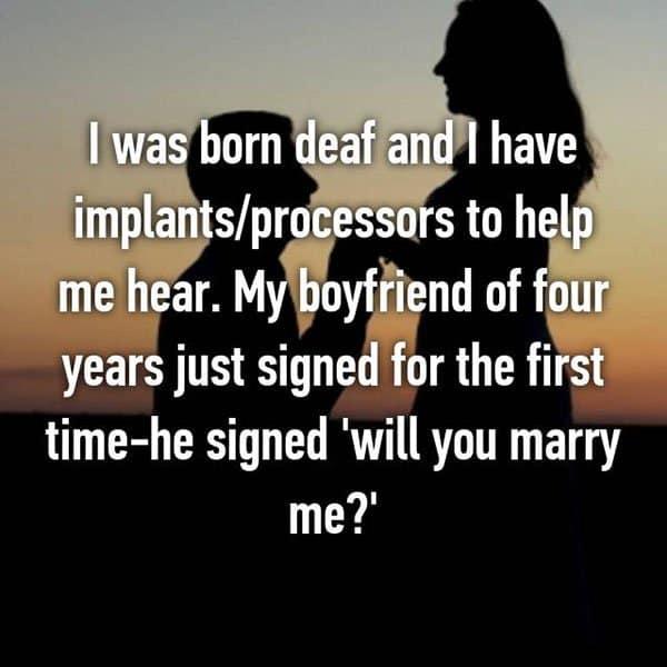 Unique Marriage Proposals sign language