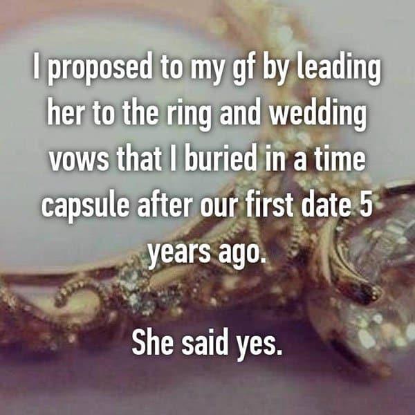 Unique Marriage Proposals time capsule