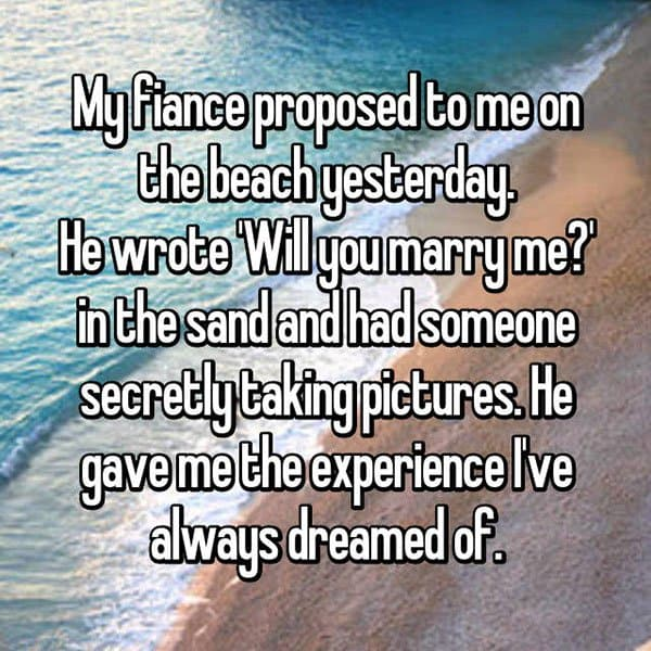Unique Marriage Proposals will you marry me in the sand