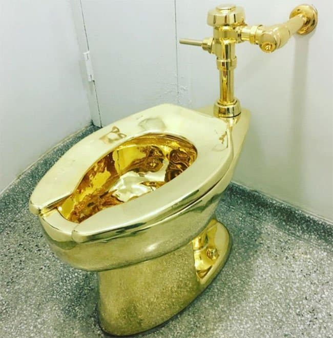 Useless Items With Extraordinary Price Tags gold toilet