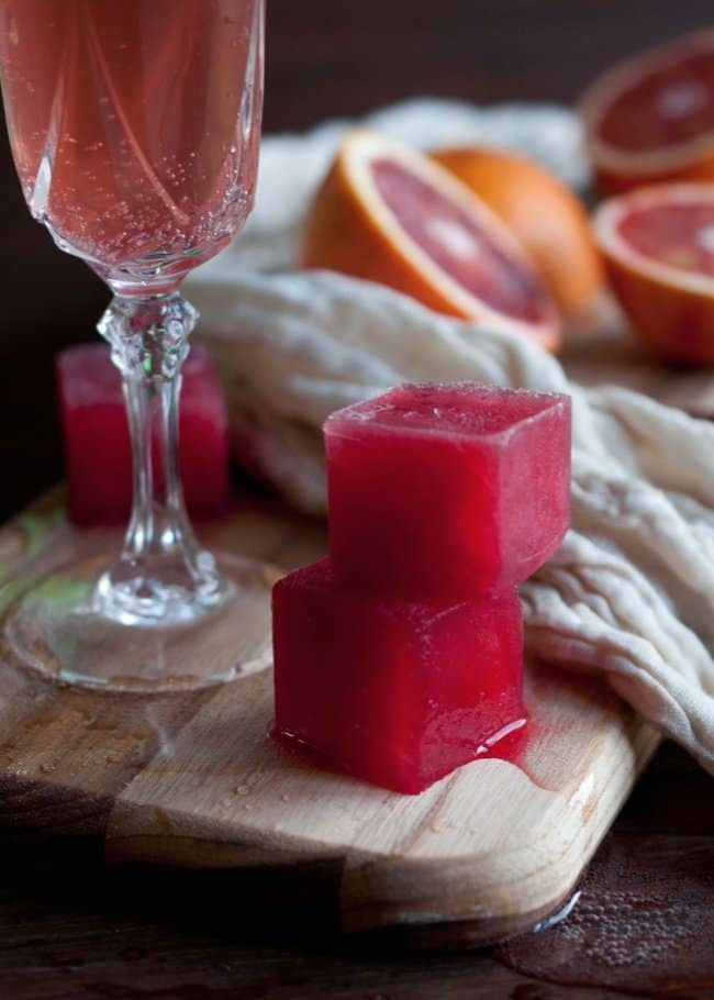 Ways To Use Ice Cube Tray blood orange juice