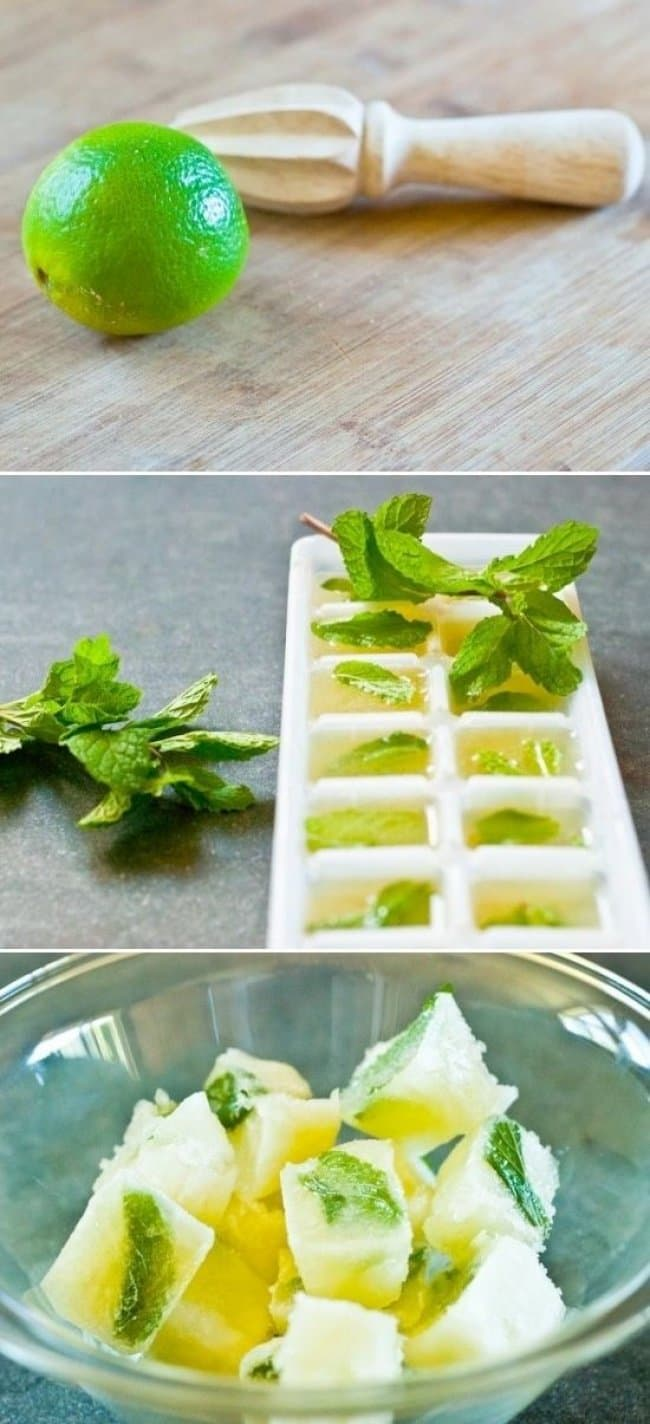 Ways To Use Ice Cube Tray mint and lime