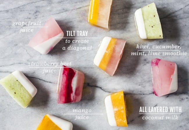 Ways To Use Ice Cube Tray multilayer fruit cubes