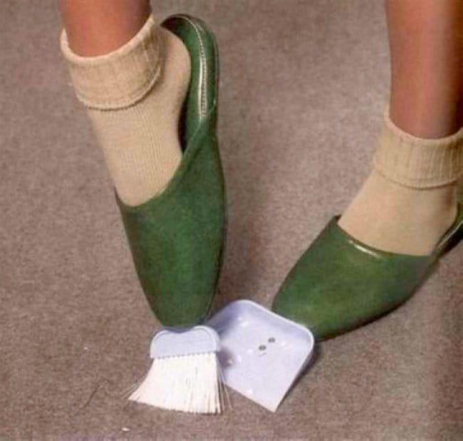 Weird Inventions For Women dustpan and brush slippers