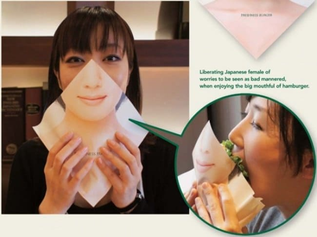 Weird Inventions For Women face napkin