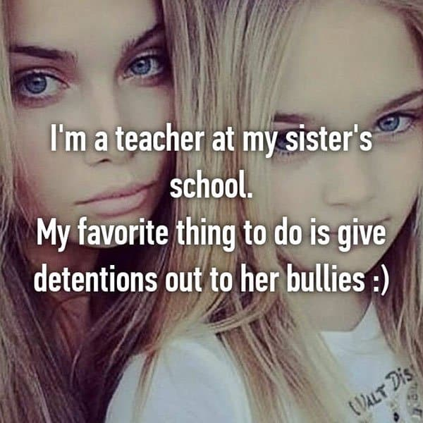 Acts Of Sisterly Love detentions bullies