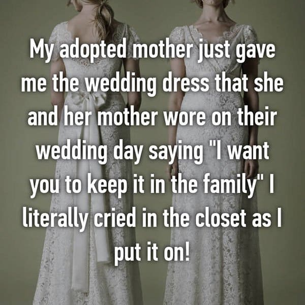 Adoption Stories wedding dress