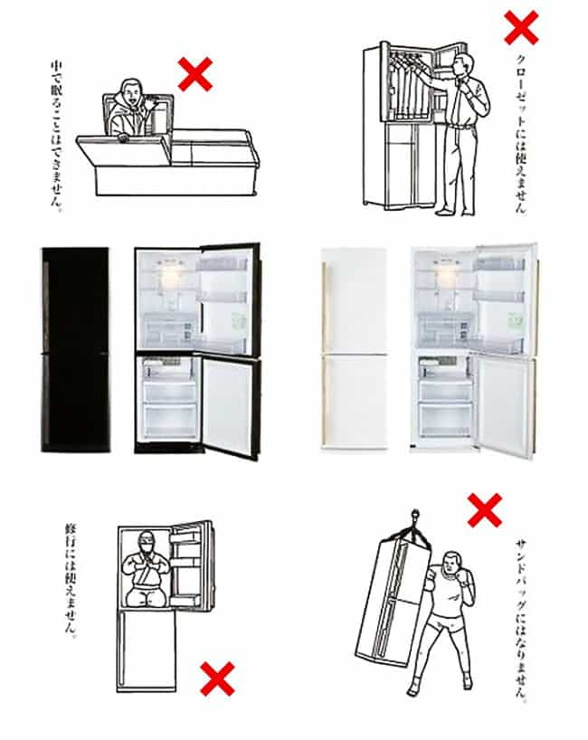 Amusing Instructions how to use a fridge