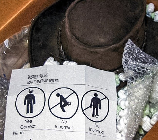 Amusing Instructions how to use your hat