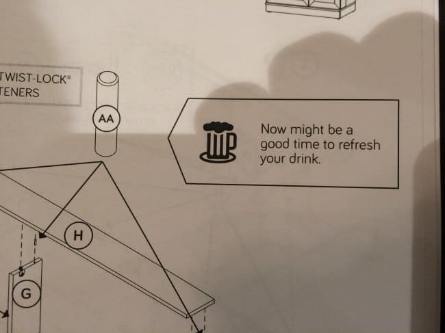 Amusing Instructions refresh your drink