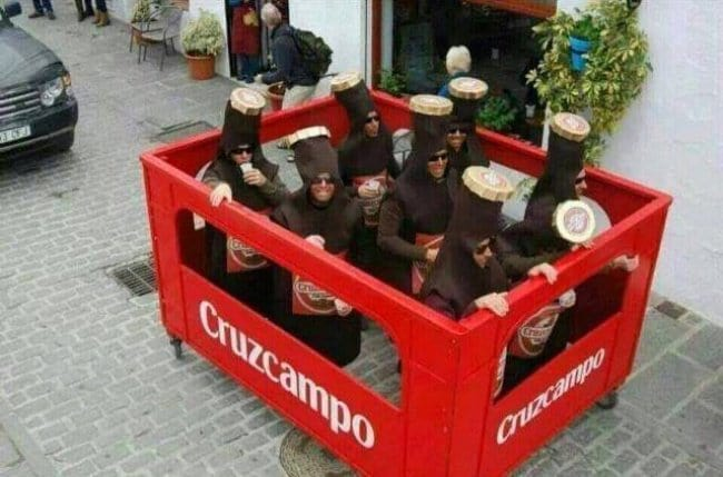 Brilliant Examples Of Cosplay a crate of beer