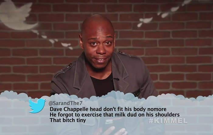 Celebrities Read Mean Tweets About Themselves dave chappelle