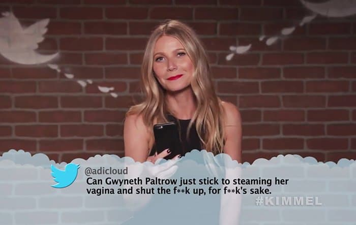Celebrities Read Mean Tweets About Themselves gwyneth paltrow