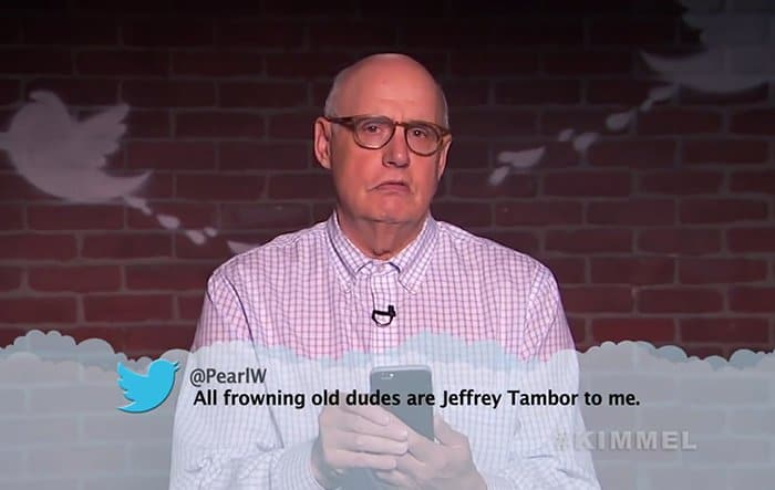 Celebrities Read Mean Tweets About Themselves jeffrey tambor