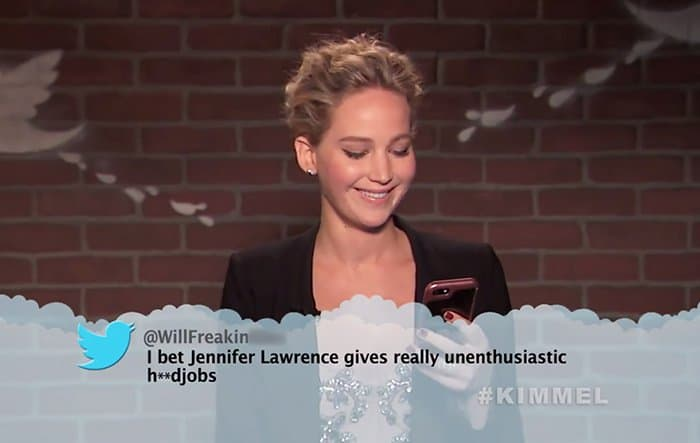 Celebrities Read Mean Tweets About Themselves jennifer lawrence