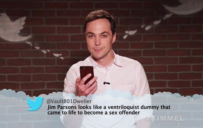 Celebrities Read Mean Tweets About Themselves jim parsons