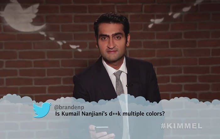 Celebrities Read Mean Tweets About Themselves kumail nanjiani