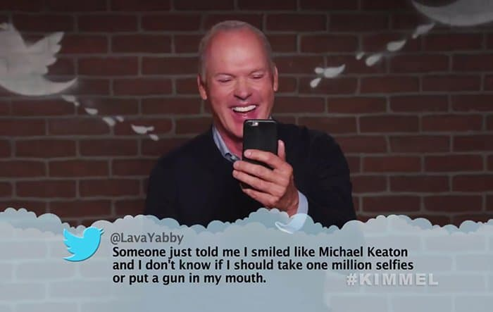 Celebrities Read Mean Tweets About Themselves michael keaton