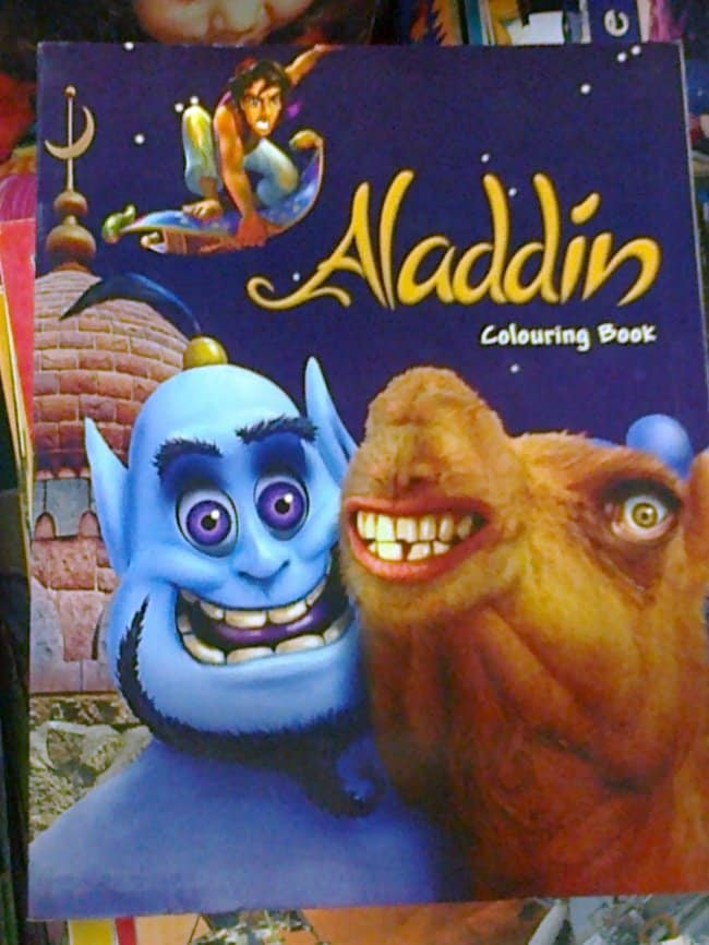 Copies Of Famous Brands aladdin coloring book