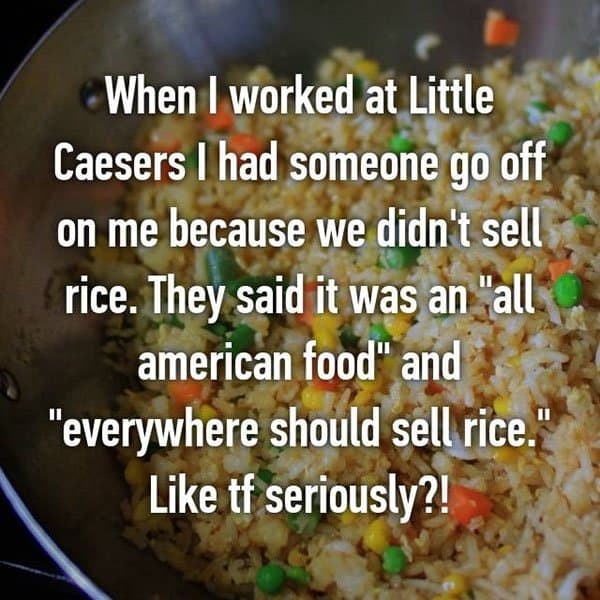 Customer Complaints didnt sell rice
