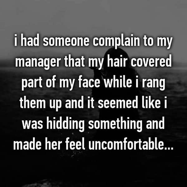 Customer Complaints hair on face