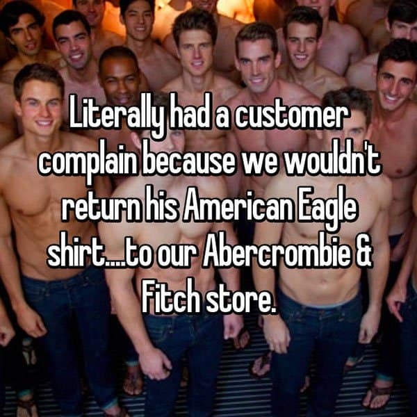 Customer Complaints return american eagle shirt