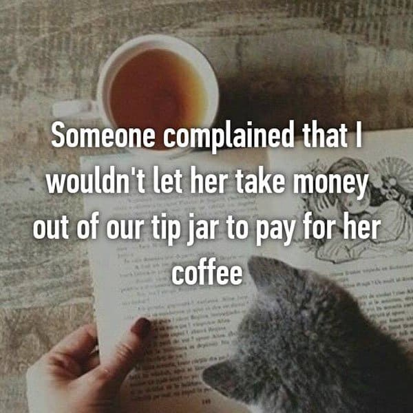 Customer Complaints tip jar money