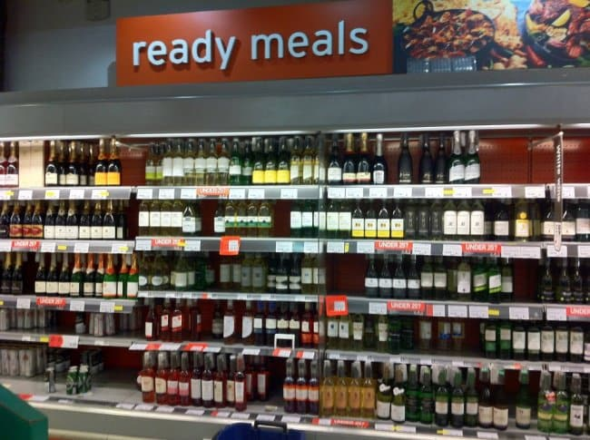 Disappointing Shopping Finds ready meals alcohol