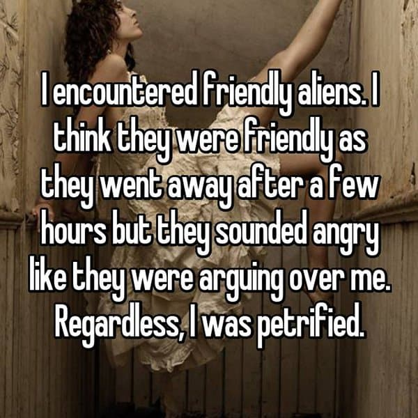 Encounters With Aliens arguing over me