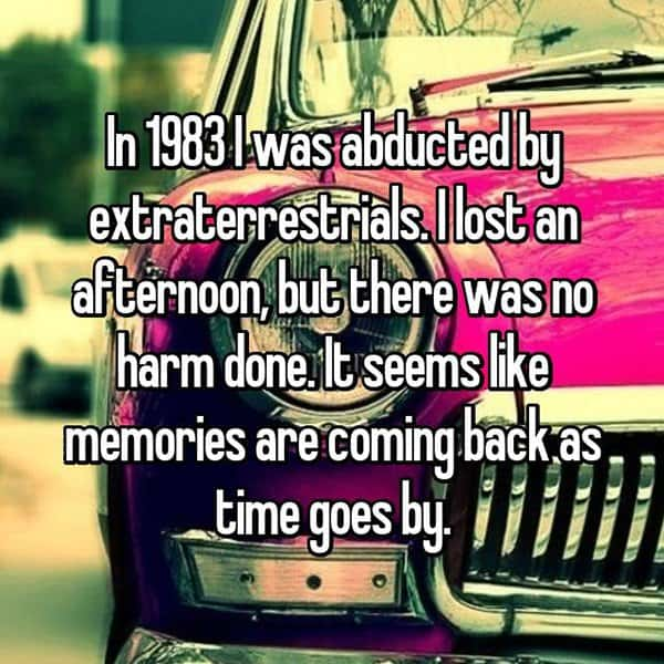 Encounters With Aliens memories coming back