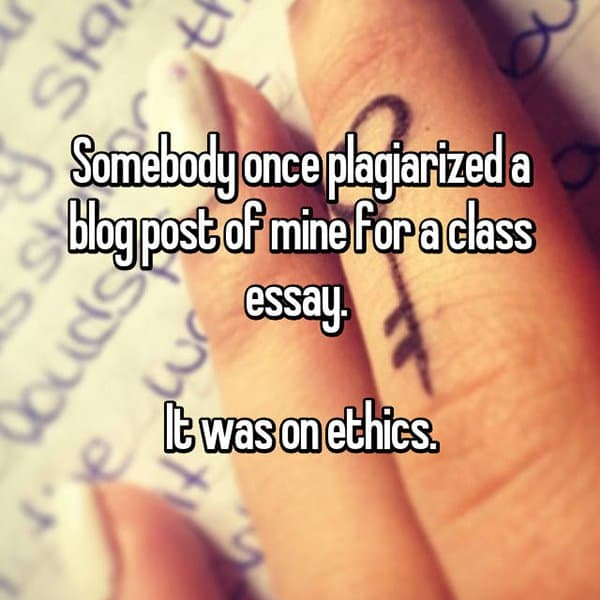 Experiences With Plagiarism ethics essay
