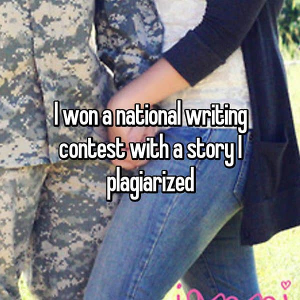 Experiences With Plagiarism national writing contest