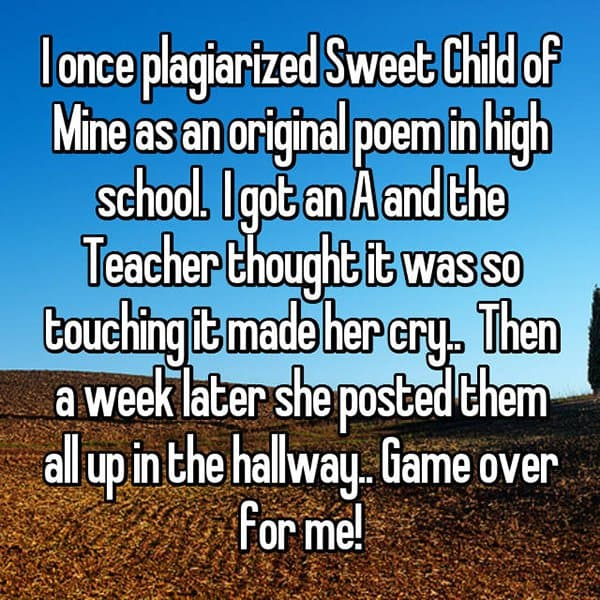 Experiences With Plagiarism poem