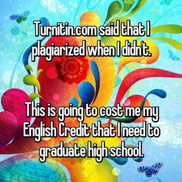 Experiences With Plagiarism turnitin