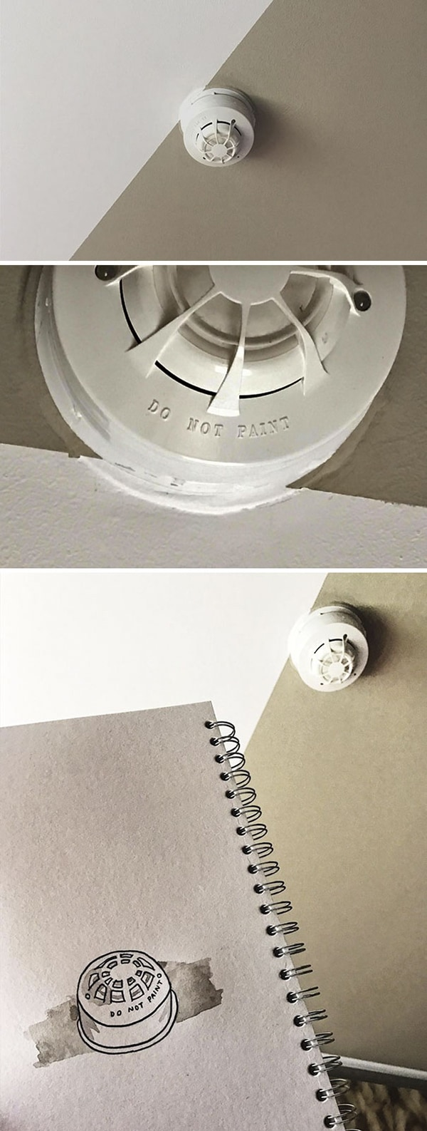 First World Anarchists do not paint smoke alarm