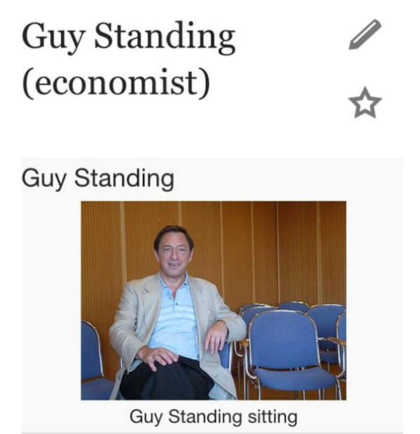 First World Anarchists guy standing sitting