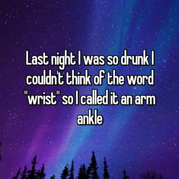 Funny Things That People Did Whilst Drunk arm ankle