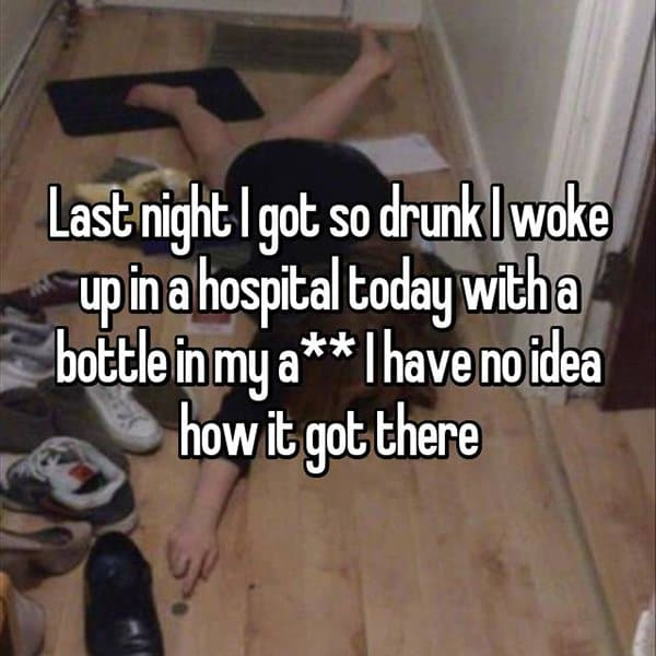 Funny Things That People Did Whilst Drunk bottle hospital