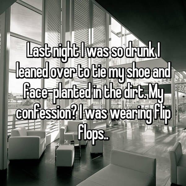 Funny Things That People Did Whilst Drunk flip flops