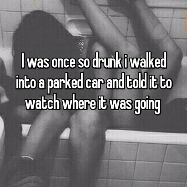 Funny Things That People Did Whilst Drunk parked car