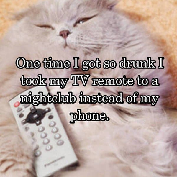 Funny Things That People Did Whilst Drunk tv remote