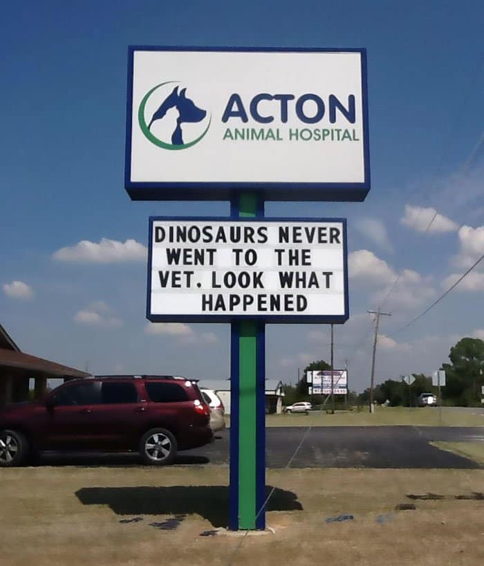 Genius Vet Signs dinosaurs never went to the vet