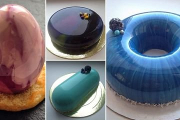 Gorgeous Mirror Marble Cakes