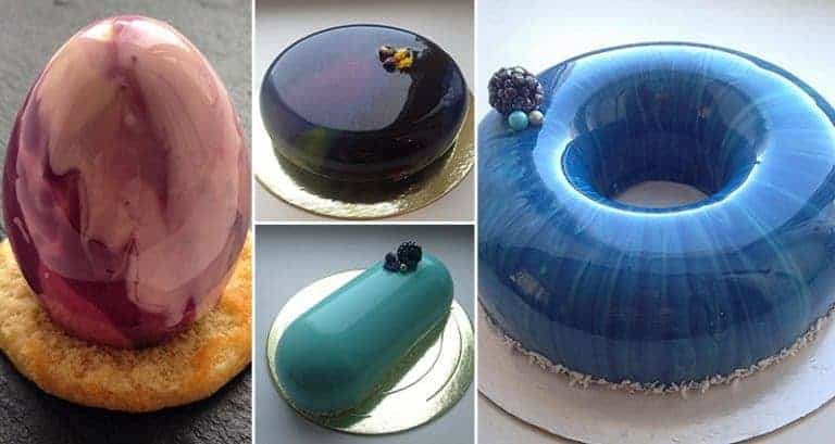 Gorgeous Looking Mirror Marble Cakes That Will Blow Your Mind