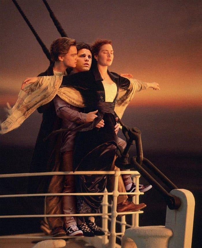 Guy Hilariously Photoshops Himself Into Celebrity Photos titanic